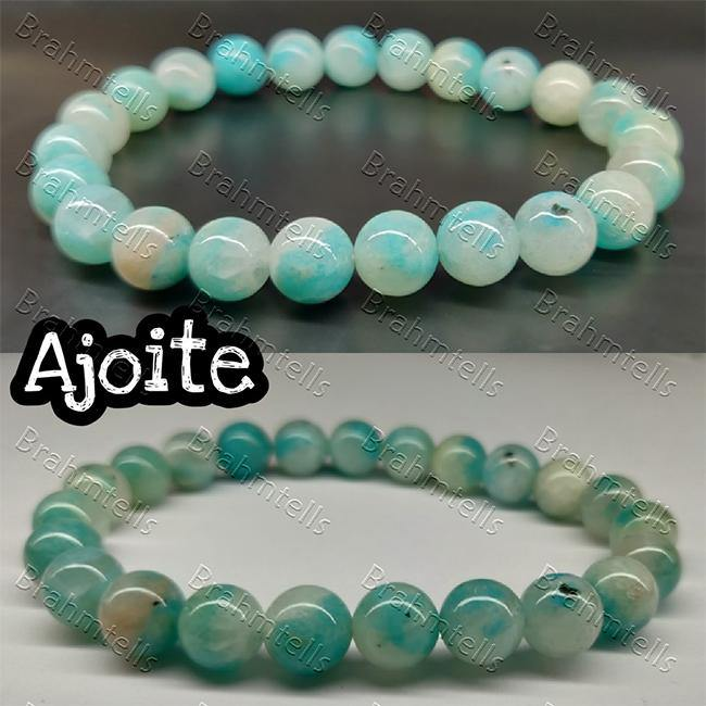 Ajoite 8mm Round Beads Bracelet