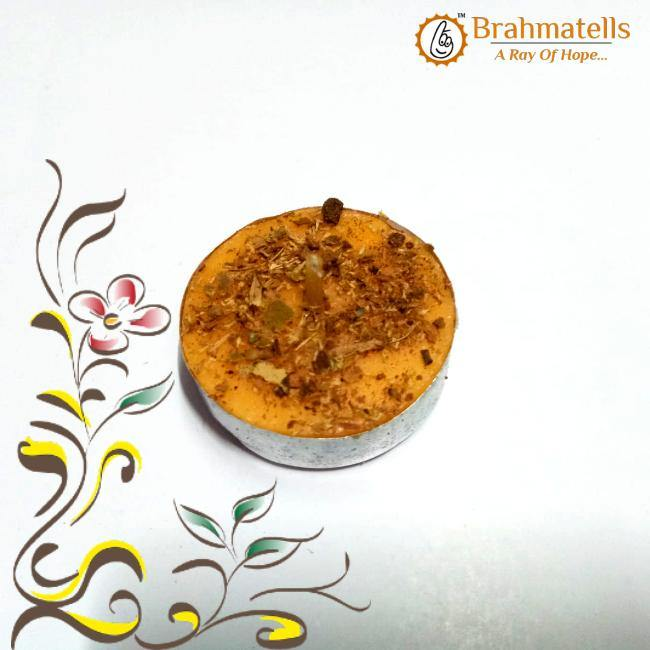 Orange Tea Light Candles - BrahmatellsStore