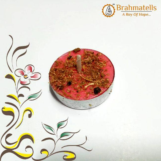 Pink Tea Light Candle - BrahmatellsStore