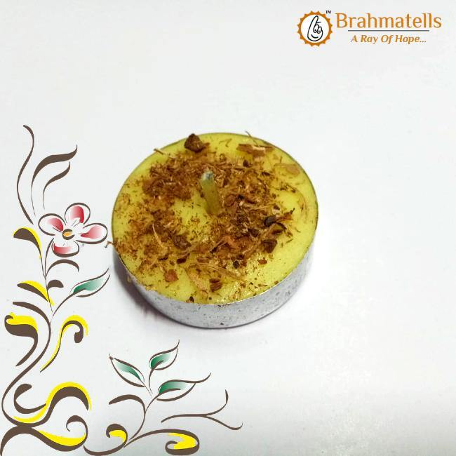 Yellow Tea Light Candle - BrahmatellsStore