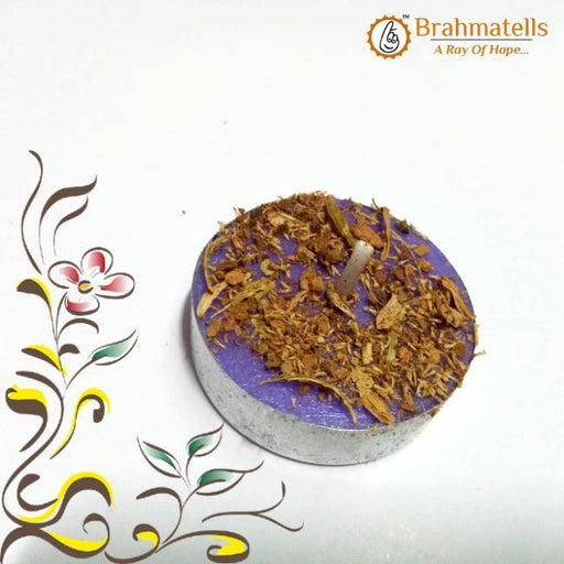 Purple Tea Light Candle - BrahmatellsStore