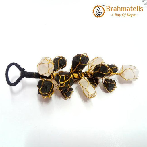 Black Tourmaline  Selenite Hanging - BrahmatellsStore