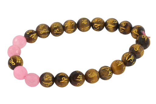 Tiger Eye with Rose Quartz Bracelet - BrahmatellsStore