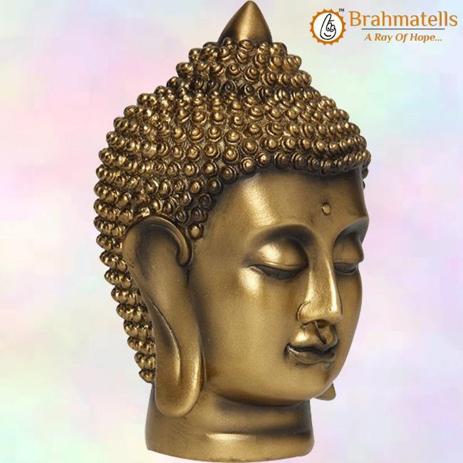 Tranquil Buddha Face Figurine