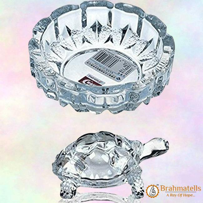 Crystal Fengshui Lucky Tortoise With Tray - BrahmatellsStore
