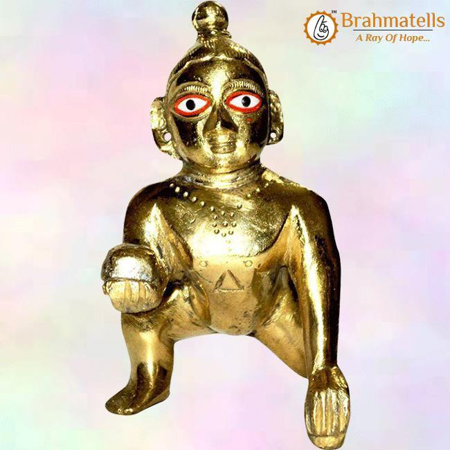 Golden-Laddu-Gopal - BrahmatellsStore