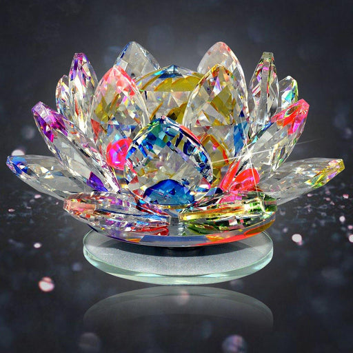 Vastu Lotus Feng Shui Lotus Transparent Crystal Lotus For Positive Energy Gift Item And Good Luck & Brings Prosperity, Success - BrahmatellsStore