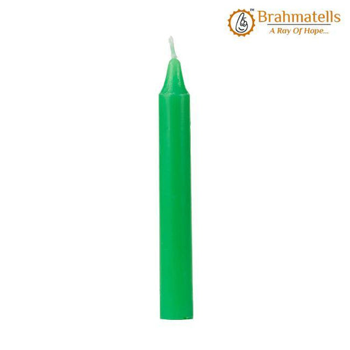 Green Wealth Spell Candles pack of 10 - BrahmatellsStore