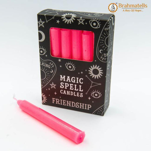 Pink Friendship Spell candles set of 10 - BrahmatellsStore