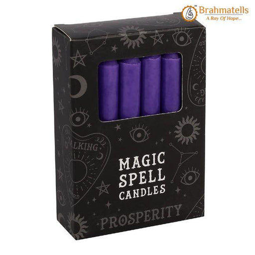 Purple Prosperity Spell Candles Pack of 10 - BrahmatellsStore