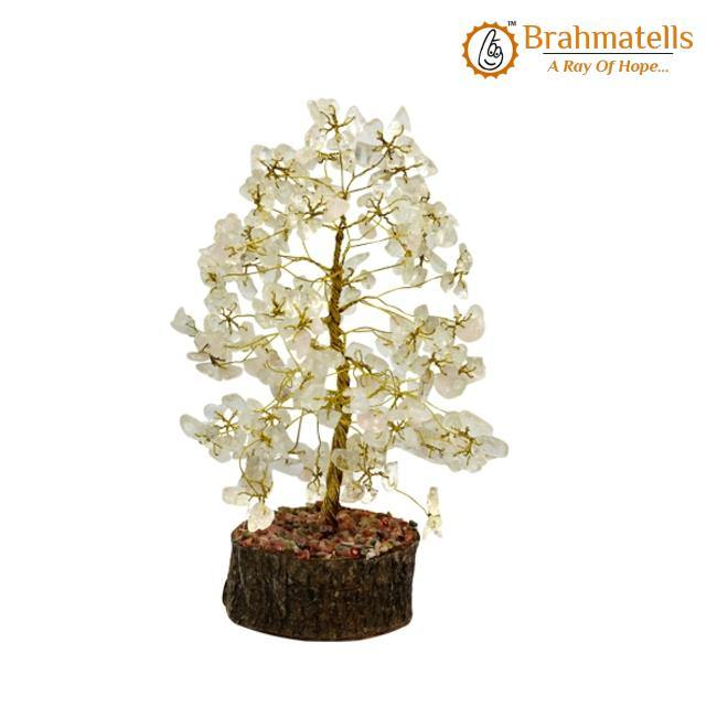 Clear Quartz Crystal Wishing Tree - BrahmatellsStore