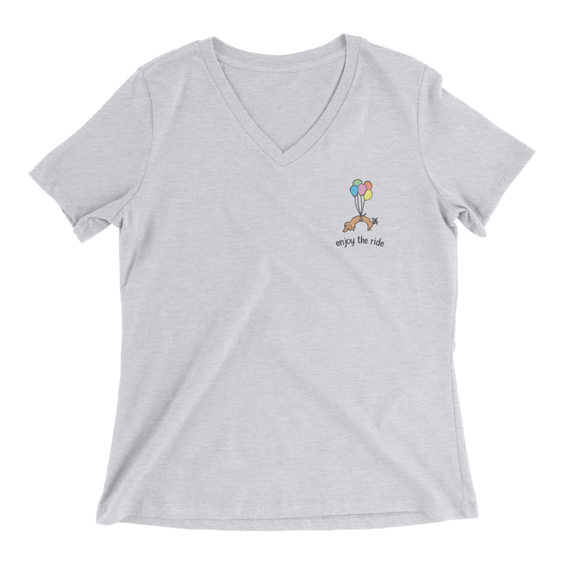 99 Doxies Float By Ladies V-Neck