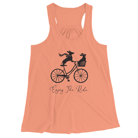 Enjoy The Ride Ladies Racerback Tank