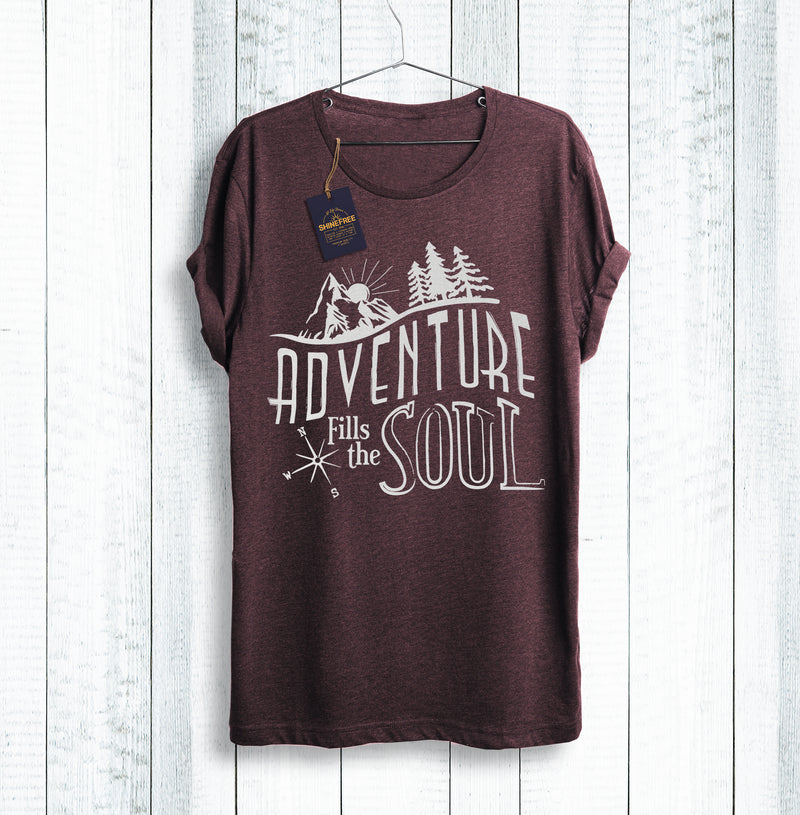Adventure shirt In Maroon Red by Shinefree.org