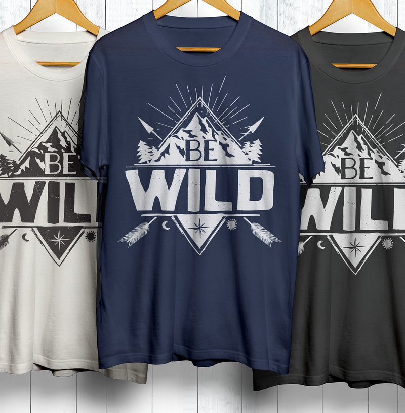 Set of Be Wild Wilderness Shirts by Shinefree.org