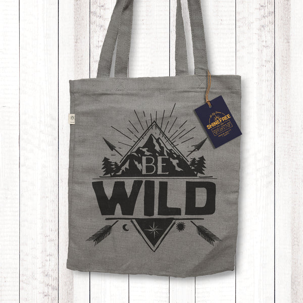 Be Wild - Certified Hemp Tote Bag