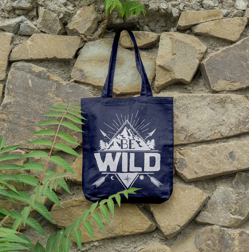 certified hemp tote bag in navy blue by shinefree