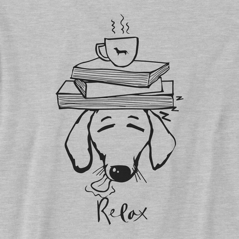 Dachshund Books and Coffee Youth Tee