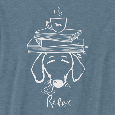 Dachshund Books and Coffee Ladies Racerback Tank