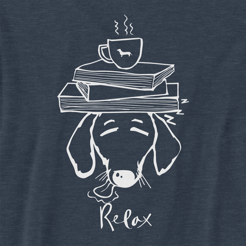 Dachshund Books and Coffee Unisex Tank Top