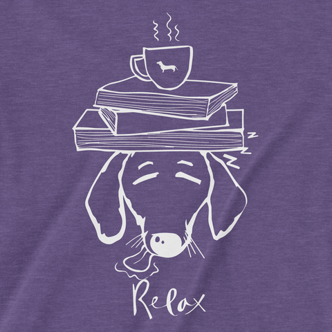 Dachshund Books and Coffee Ladies V-Neck