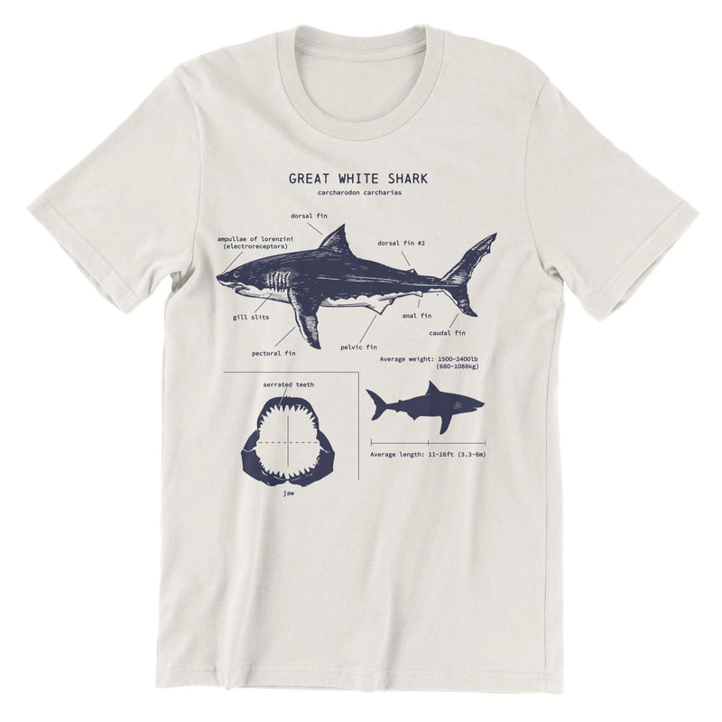 Great White Shark Anatomy t-shirt