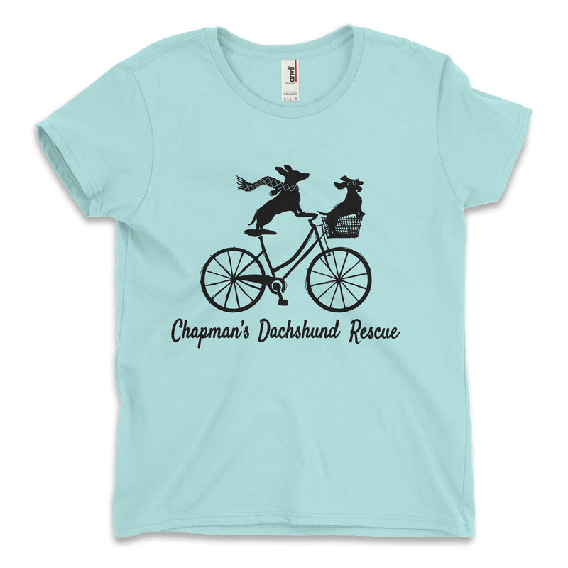 Doxies Riding A Bicycle - CDR Ladies Relaxed Tee