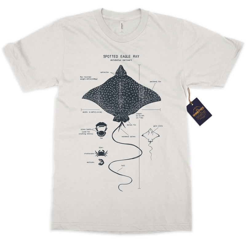 Spotted Eagle Ray Anatomy t-shirt