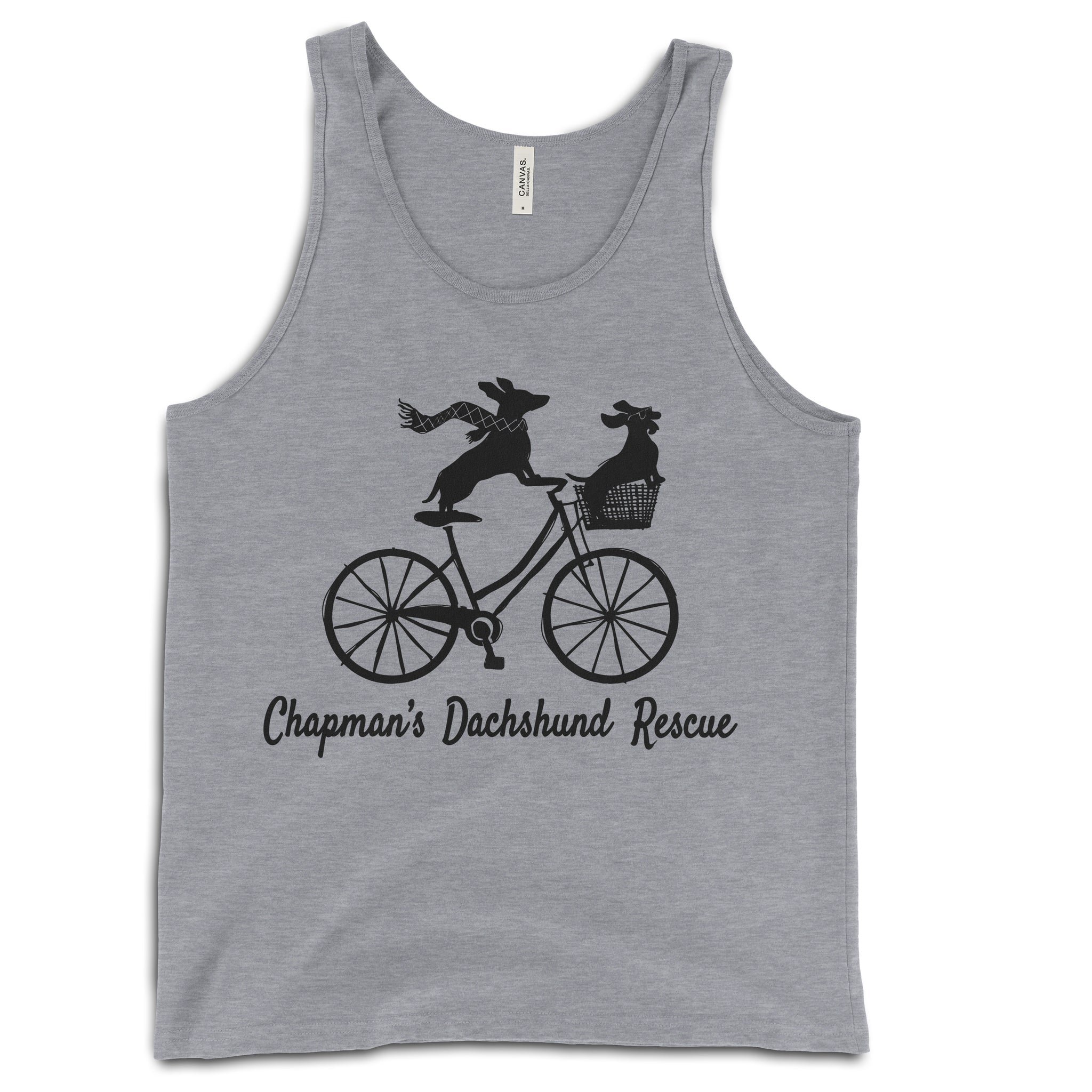 Doxies Riding Bicycle - CDR Unisex Tank Top