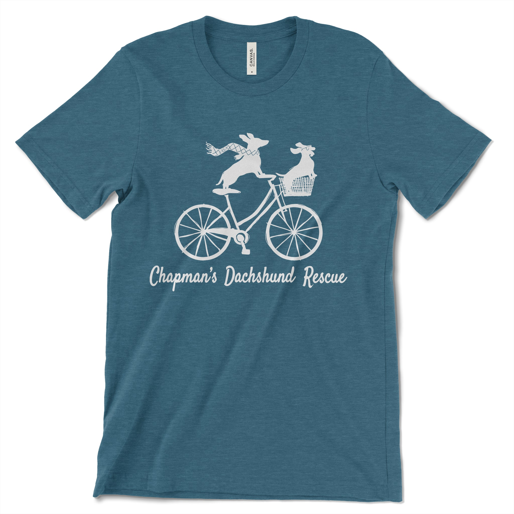 Doxies Riding Bicycle - CDR Unisex T-shirt