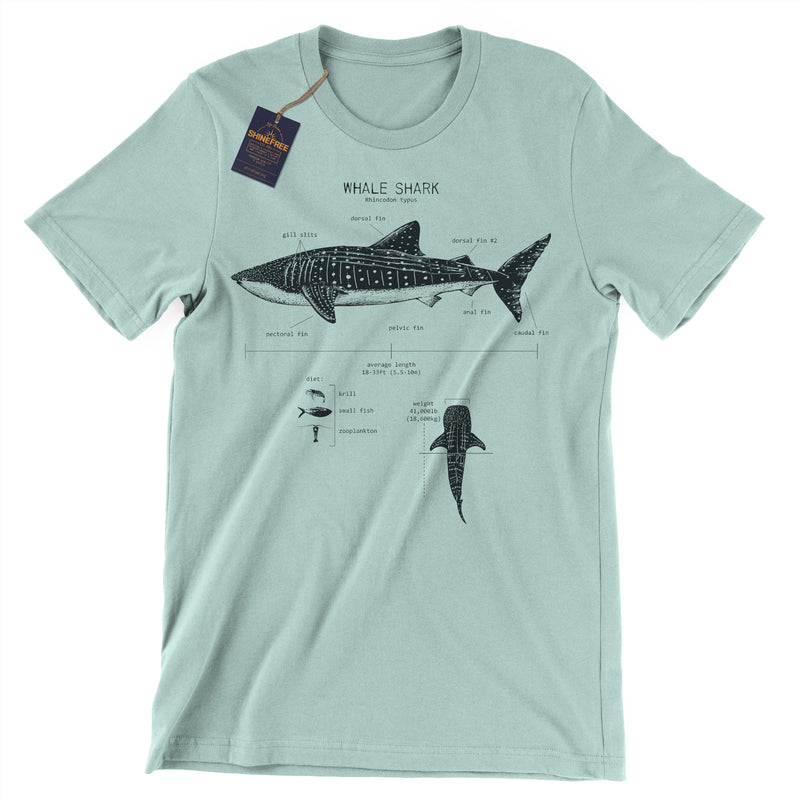Whale Shark Anatomy t-shirt
