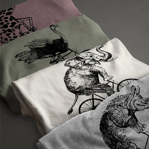 Wild Ostrich Riding Bicycle tshirt