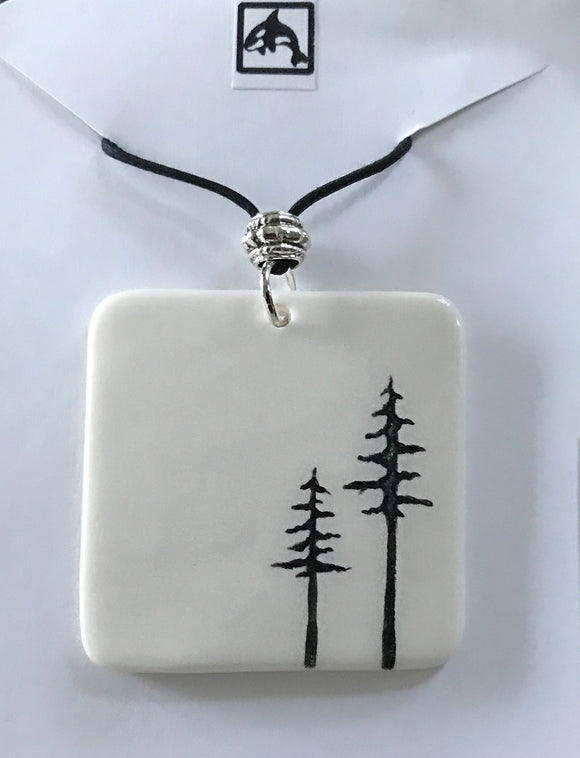 SQUARE TREE NECKLACE LARGE