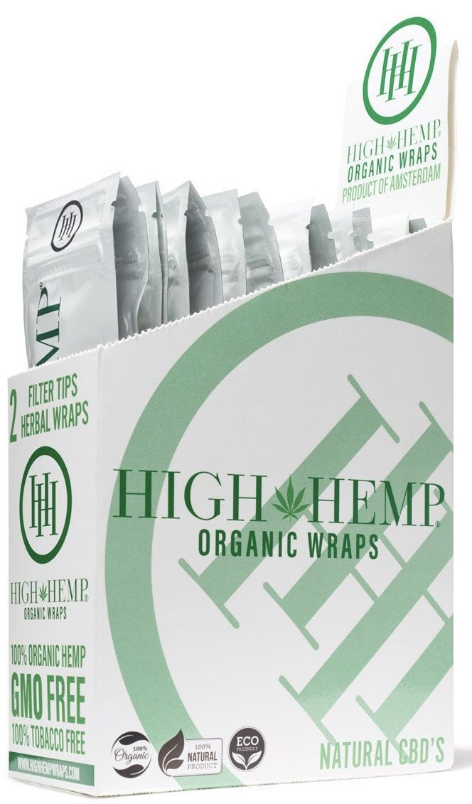 CBD Blunt Wraps - High Hemp Organic Wraps (2 wraps per pack)