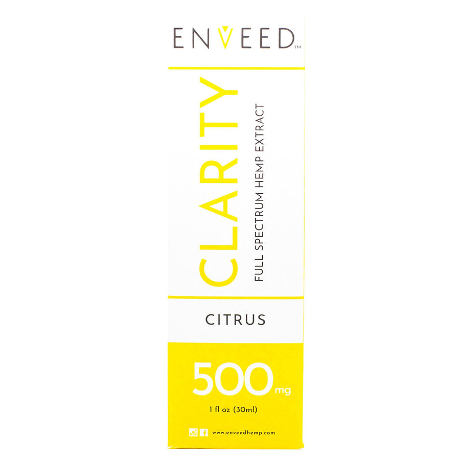 CLARITY Full Spectrum CBD Oil - 500MG - For Focus (30mL Bottle)