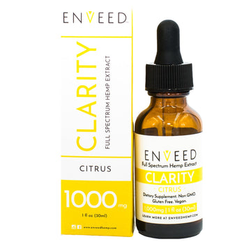 CLARITY Full Spectrum CBD Oil - 1000MG - For Focus (30mL Bottle)