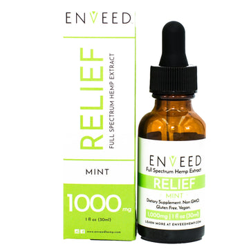 RELIEF Full Spectrum CBD Oil - 1000mg - Pain and Inflammation (30mL Bottle)