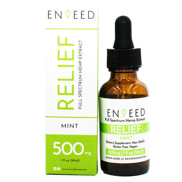 RELIEF Full Spectrum CBD Oil - 500mg - Pain and Inflammation (30mL Bottle)
