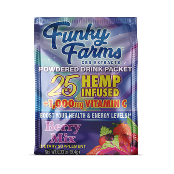 CBD Powdered Drink Mix - Berry Flavored (25mg/packet) *Available in 1, 2, 4, or 6ct. Options*