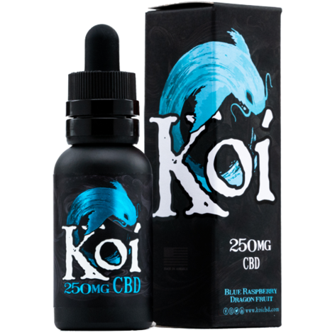 *Liquidation Sale* BLUE KOI CBD Vape Oil (250MG, 500MG, 1000MG Bottles) - Blue Raspberry