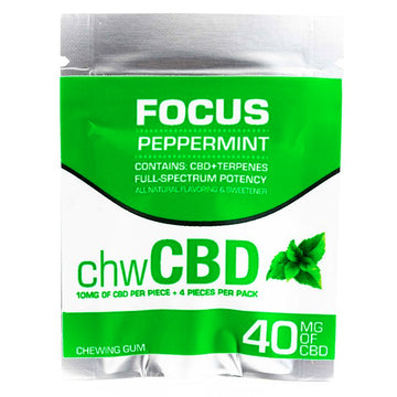 CBD GUM - Mint Flavor by BioRemedies (4Pcs per bag, 10MG Each)