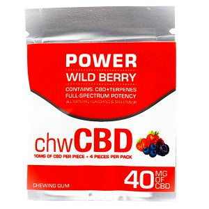 CBD GUM - Wild Berry by BioRemedies (4Pcs per bag, 10MG Each)