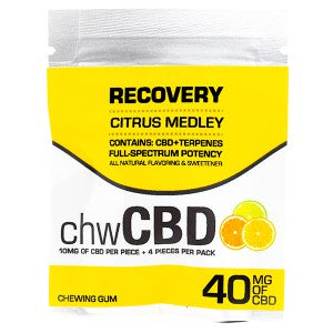 CBD GUM - Citrus Flavor By BioRemedies (4pcs per bag, 10MG Each)