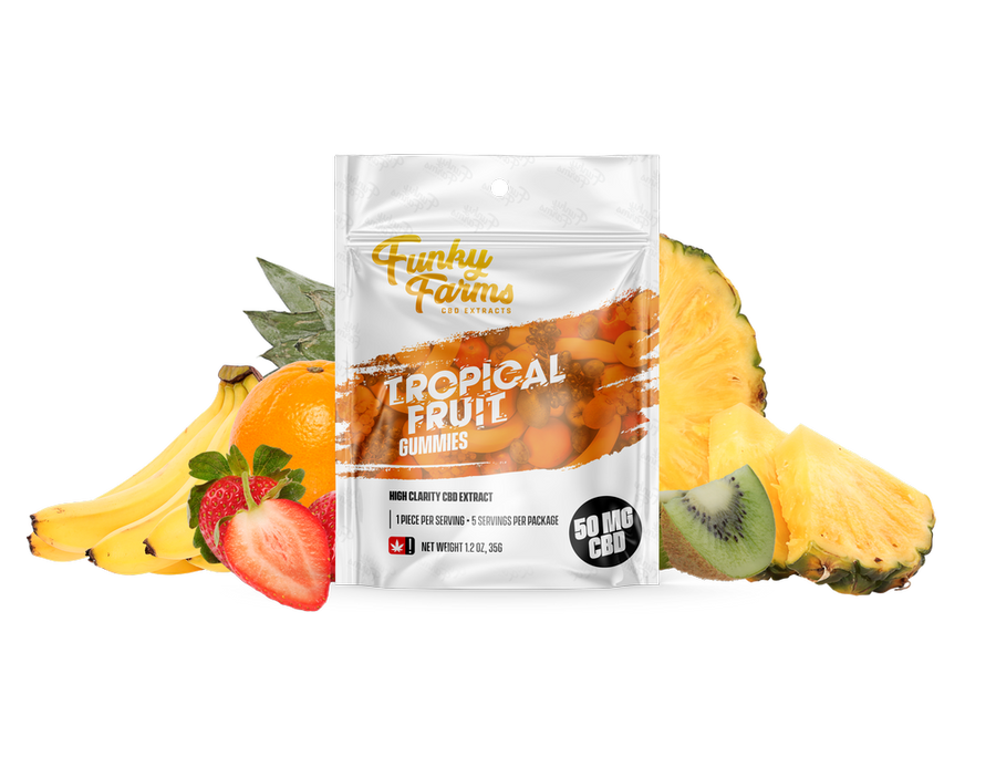 Tropical Fruit CBD Gummies - 50mg (5 pieces)