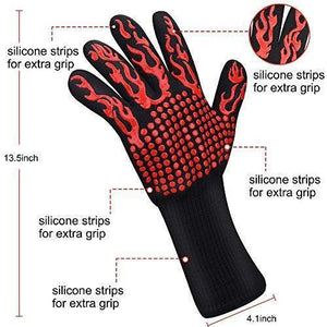 Hot Sale!!! 932℉Extreme Heat Resistant BBQ Fireproof Gloves