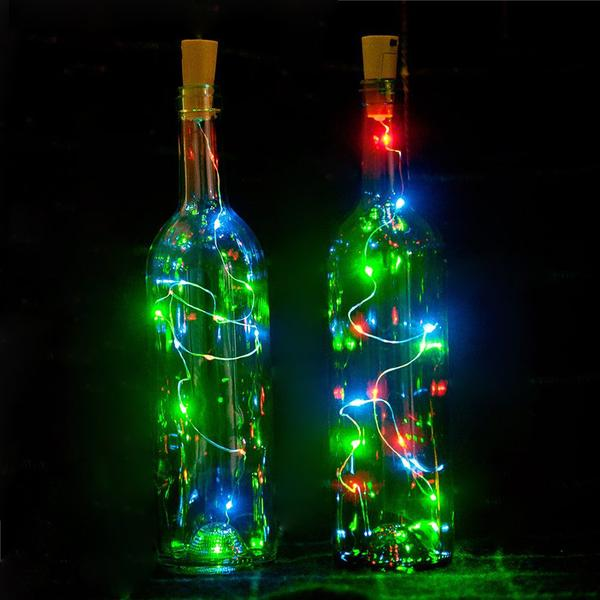 HOT🔥!Wine bottle cork light copper wire string