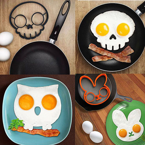 50% OFF-Creative silicone egg molds rabbit, owl & skull
