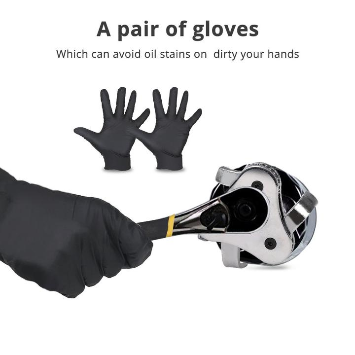 Get a free pair of gloves which!!! Universal 3 Jaw Oil Filter Wrench