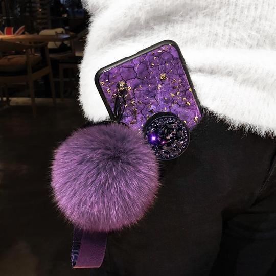 (Buy 2 free shipping)2019 New Fashion Fiber Soft Fur ball Diamond [Samsung/Iphone] case