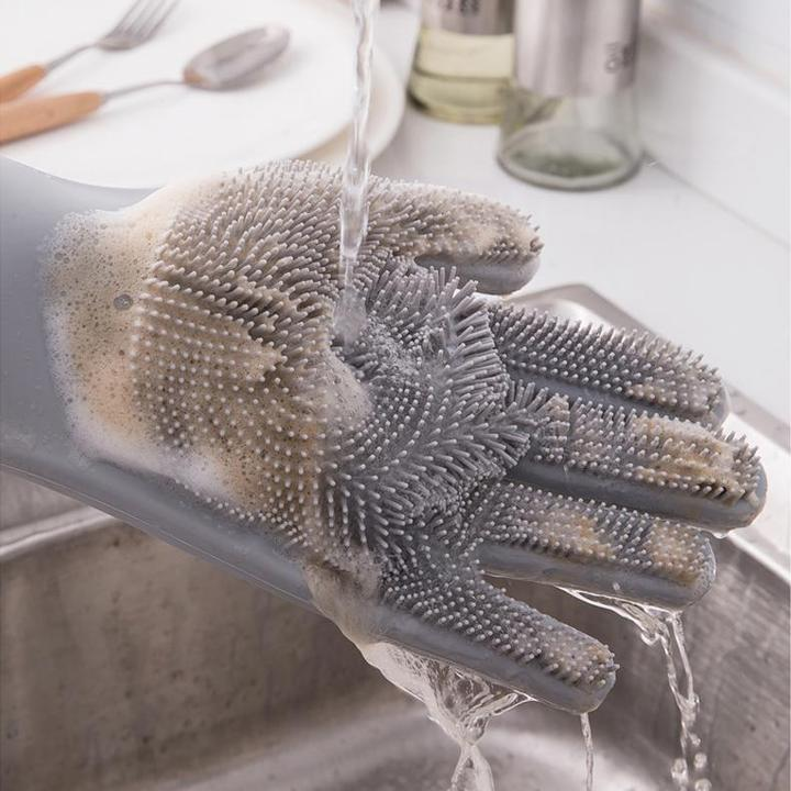 (Buy 2 free shipping)75% OFF TODAY-Silicone Scrubber Bristly Gloves(Factory Outlet)